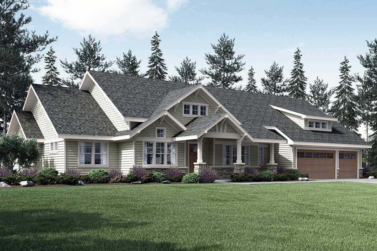 Eye-catching Craftsman With Vaulted Great Room - 72846da