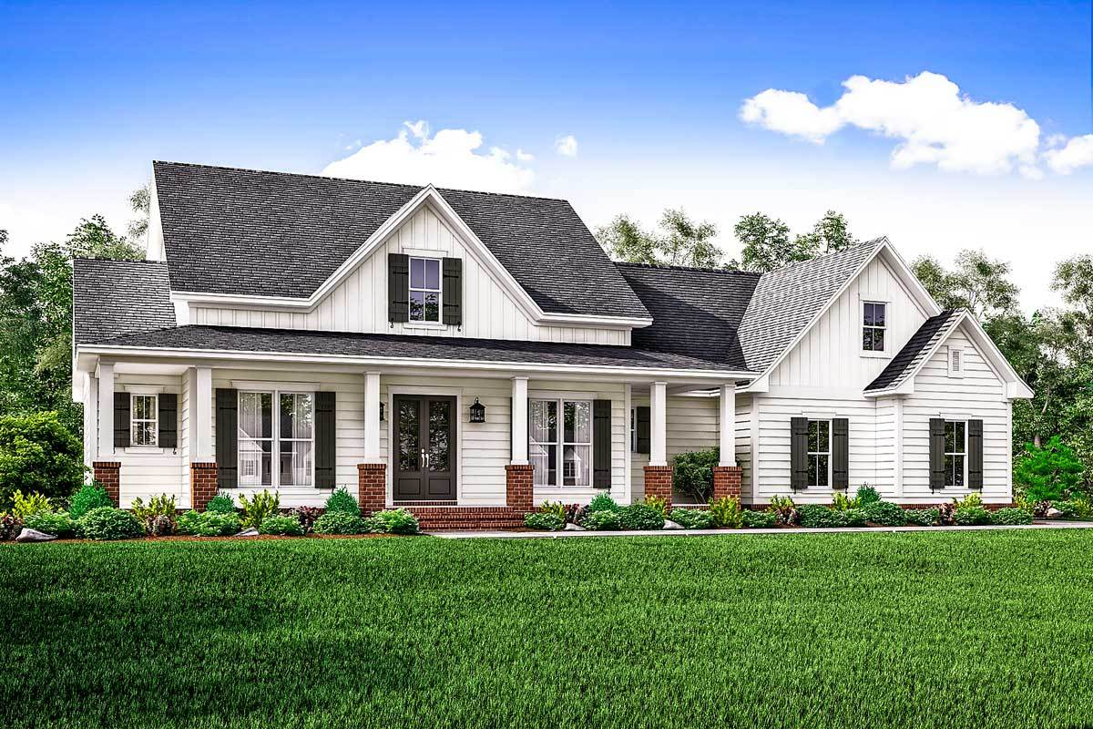 Country House Plan With Flex Space And Bonus Room
