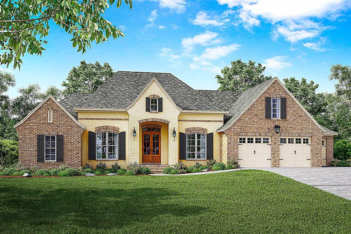 French Country House Plan With Split Bedrooms And Bonus