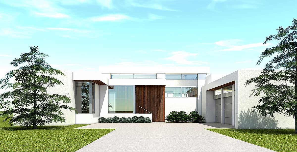 Ultra Modern House Plan With 4 Bedroom Suites 44140td