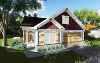 2 Bed Craftsman Cottage with Open Concept Floor Plan ...