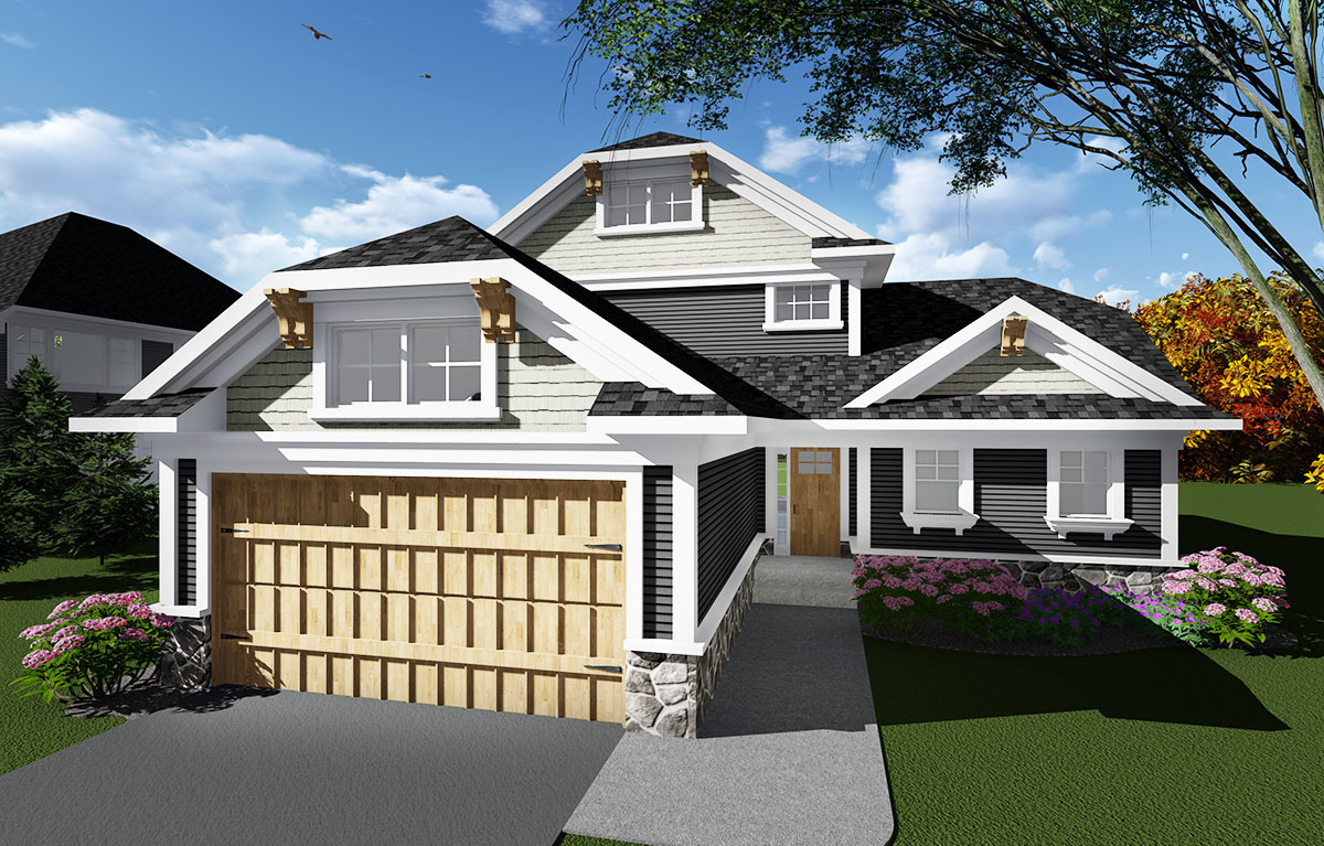 Open Concept Craftsman House Plan 890011ah