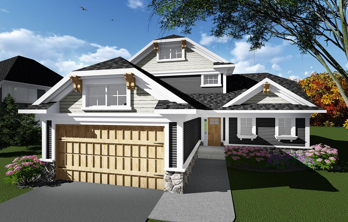 Open Concept Craftsman House Plan 890011ah