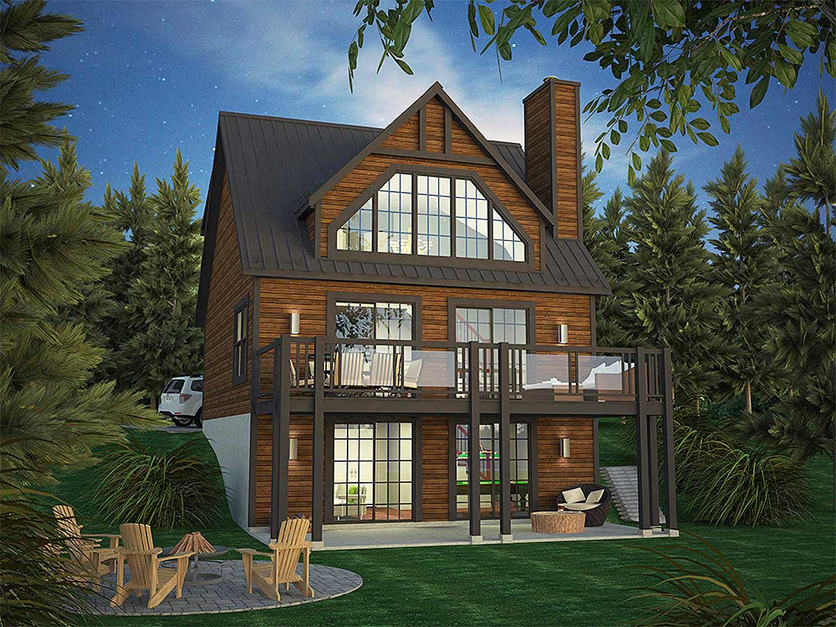 Vacation Home Plan With Incredible Rear Facing Views