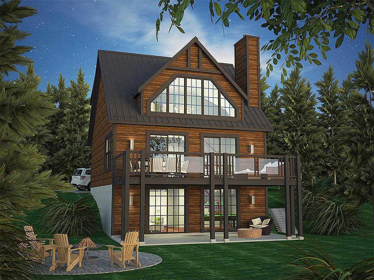 Vacation Home Plan With Incredible Rear-facing Views