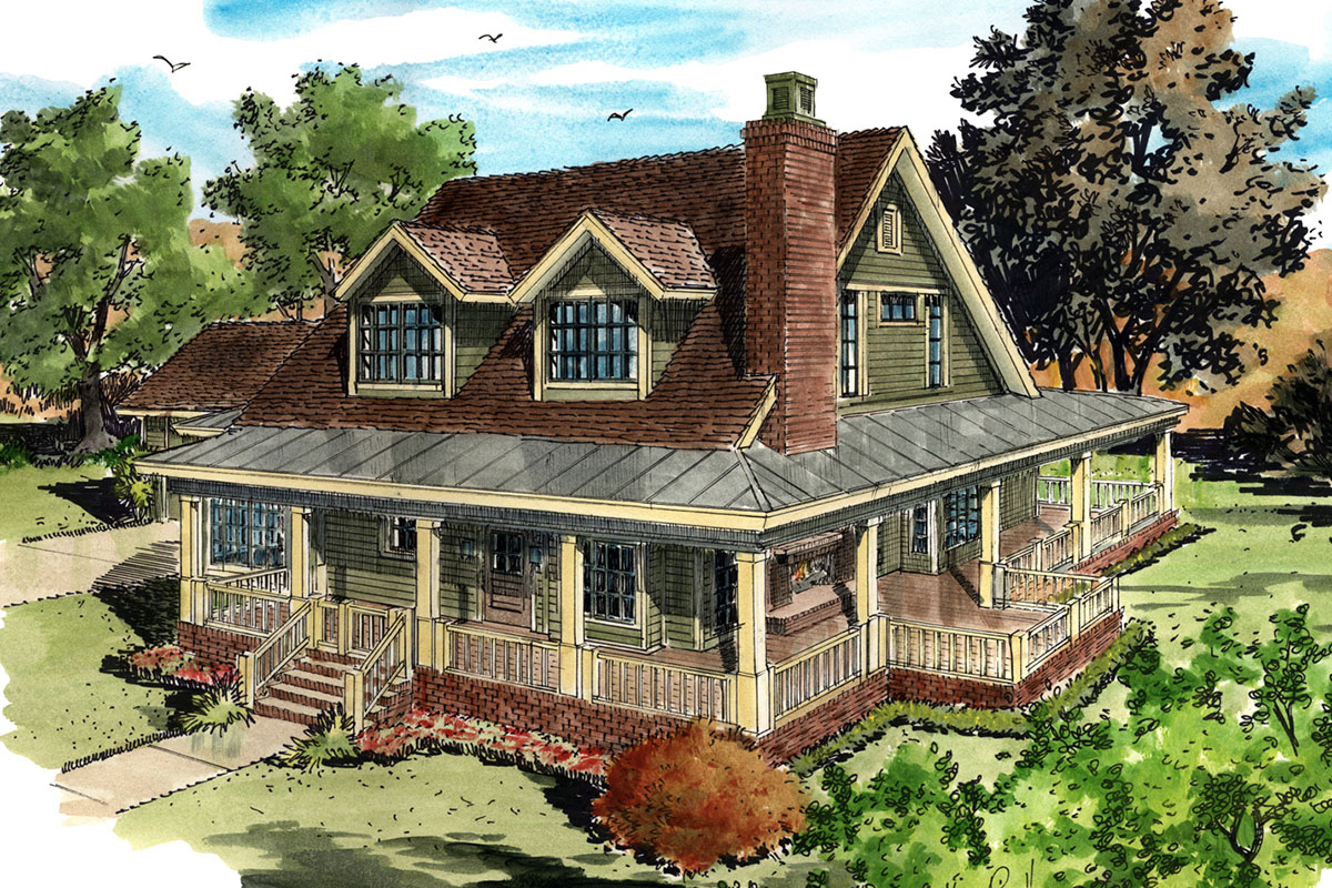 Country Farmhouse House Plans