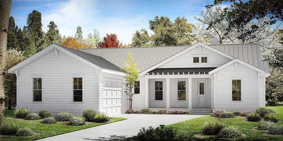 One Story Farmhouse Plan