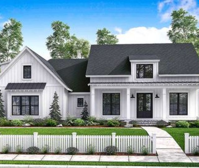 Budget Friendly Modern Farmhouse Plan With Bonus Room Hz Thumb