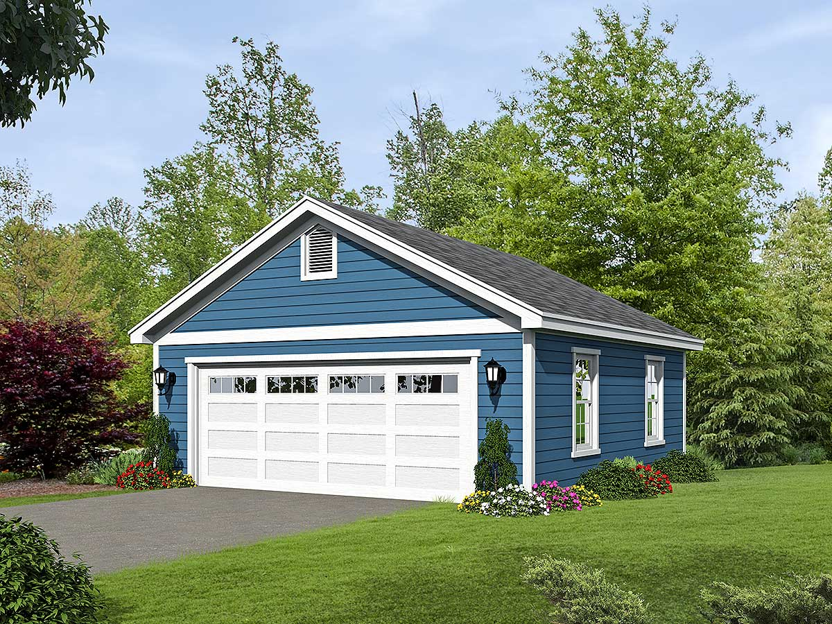 2 Car Detached Garage Plans