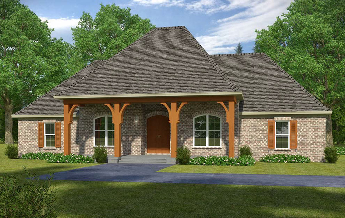 Classic Central Entry Acadian House Plan 960012nck