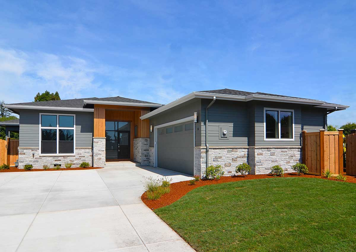 Modern Prairie Style House Plan With 3 Beds - 72866da
