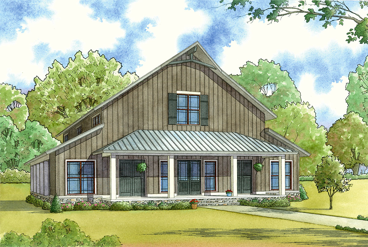 Barn Style Home Small House Plan