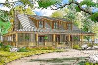 Rustic Country Home Plan with Wraparound Porch - 70552MK ...