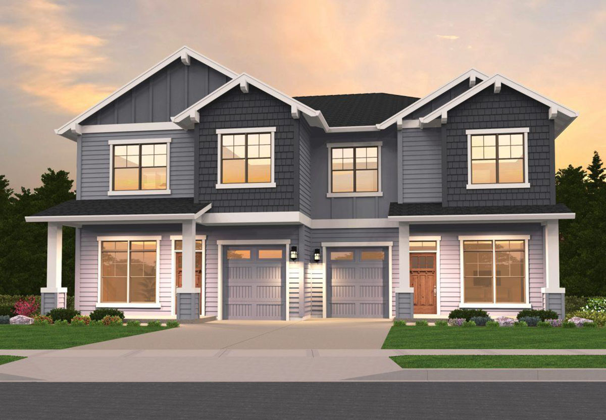 Craftsman Duplex - 85162ms Architectural Design House