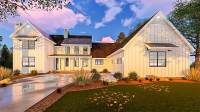 Five Bedroom Modern Farmhouse with In-law Suite - 62666DJ ...