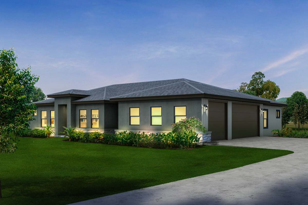 Ranch House Plans with Garage On Side
