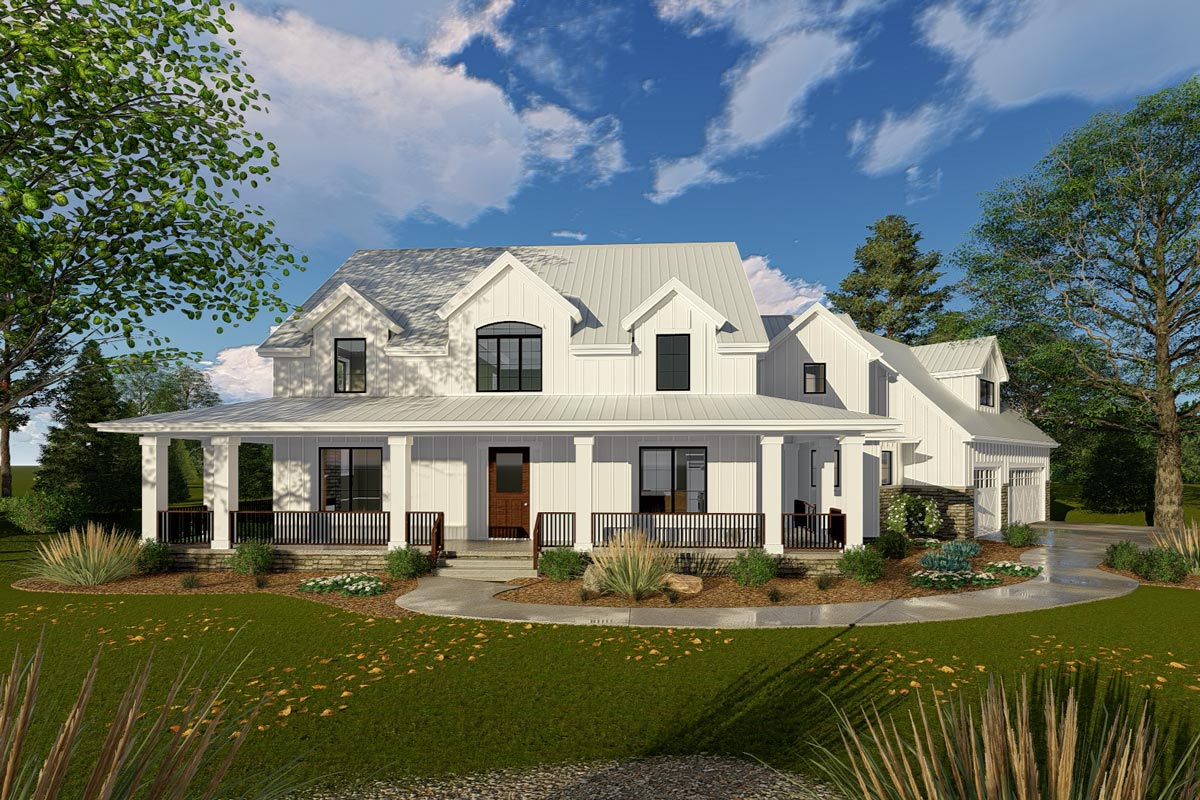 Modern 2 Story Farmhouse House Plans