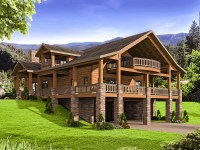 Mountain House Plan with Huge Wrap-Around Porch - 35544GH ...