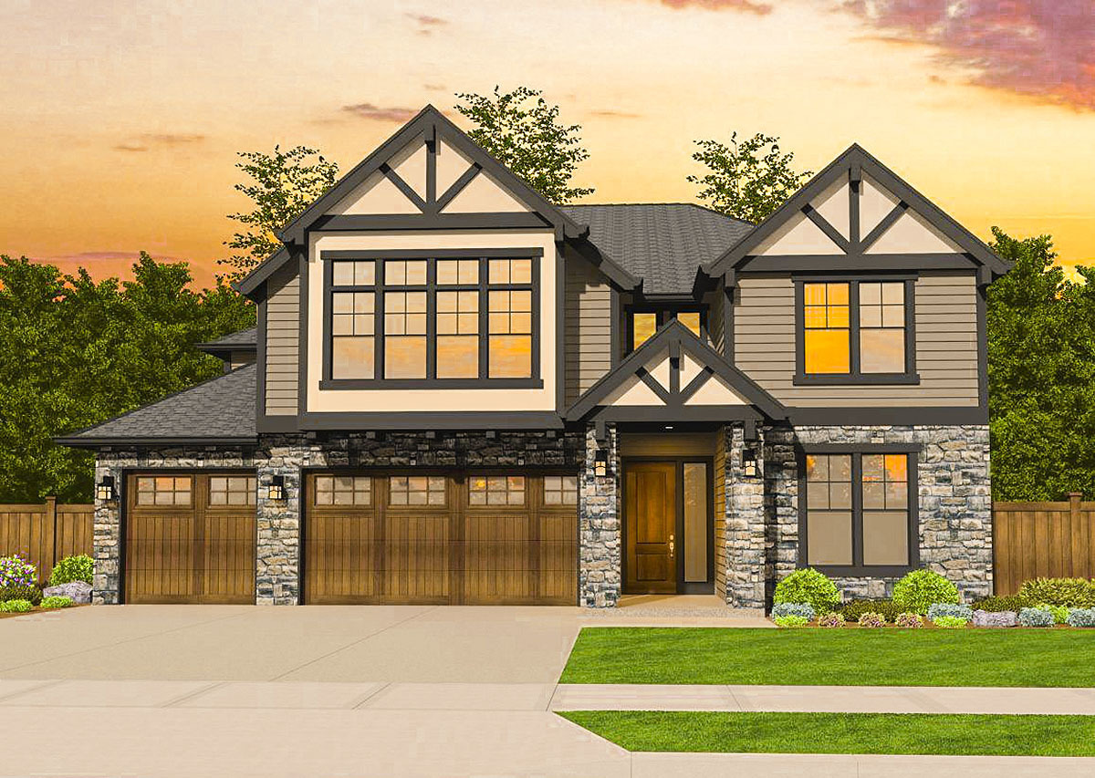 Five Bedroom Northwest House Plan With Tudor Influences
