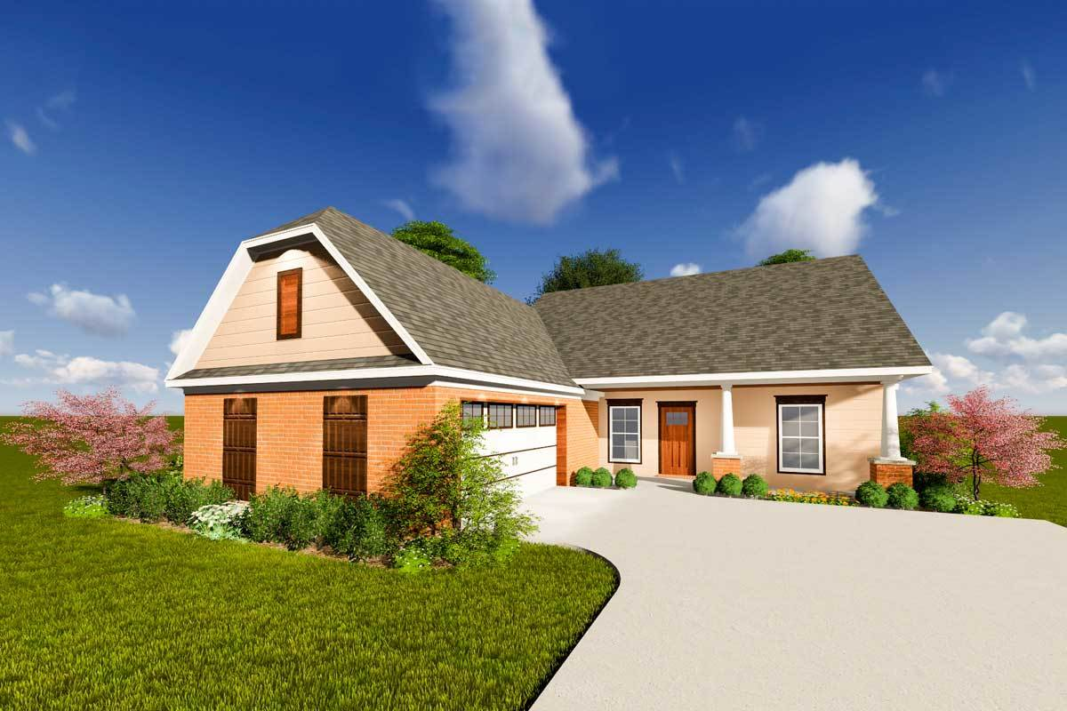 Ranch House Plan With Open Layout - 83899jw