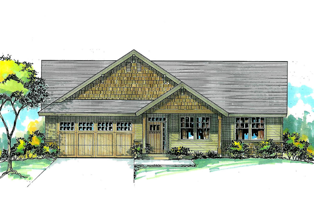 Simple 3-bed Ranch Home Plan - 2896j Architectural