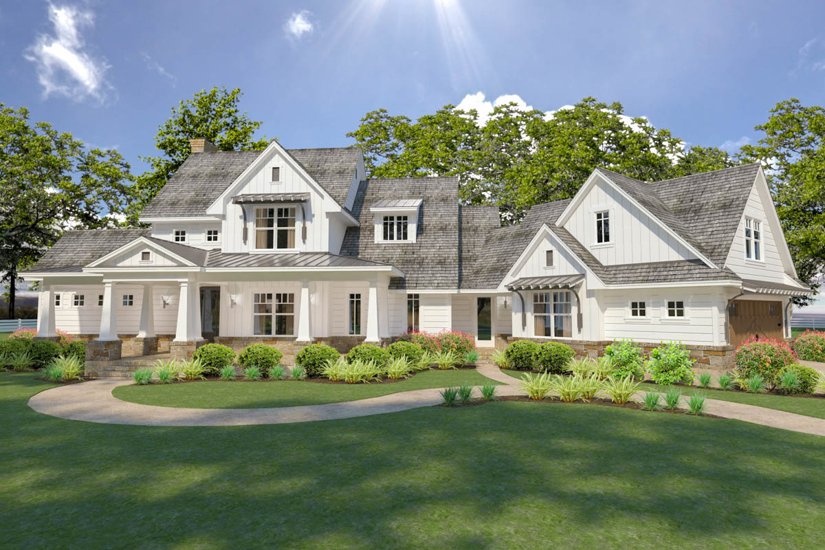 One Story Country House Plans with Porches