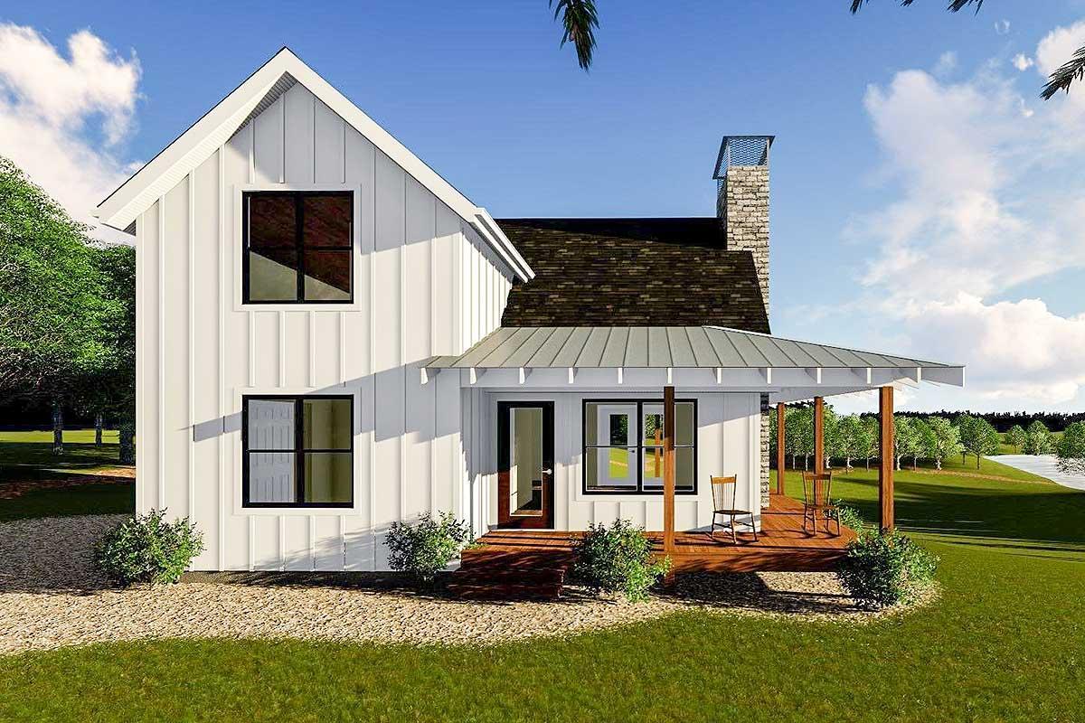 Modern Farmhouse Cabin With Upstairs Loft
