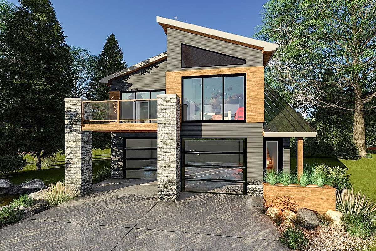 Ultra-modern Tiny House Plan - 62695dj Architectural