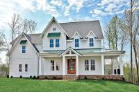 Modern Farmhouse with L-Shaped Front Porch - 500021VV ...