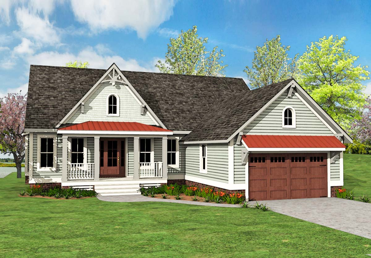 Country Craftsman House Plan - 500025vv Architectural