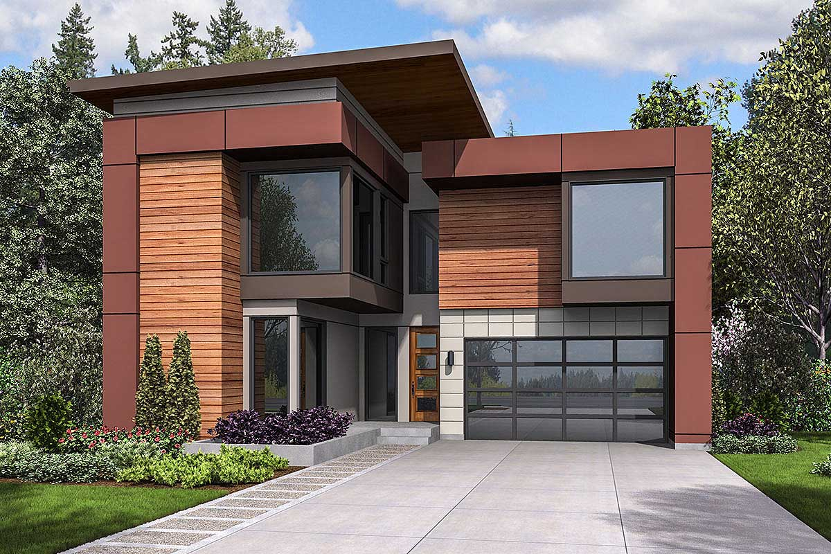 Modern Narrow Lot House Plans