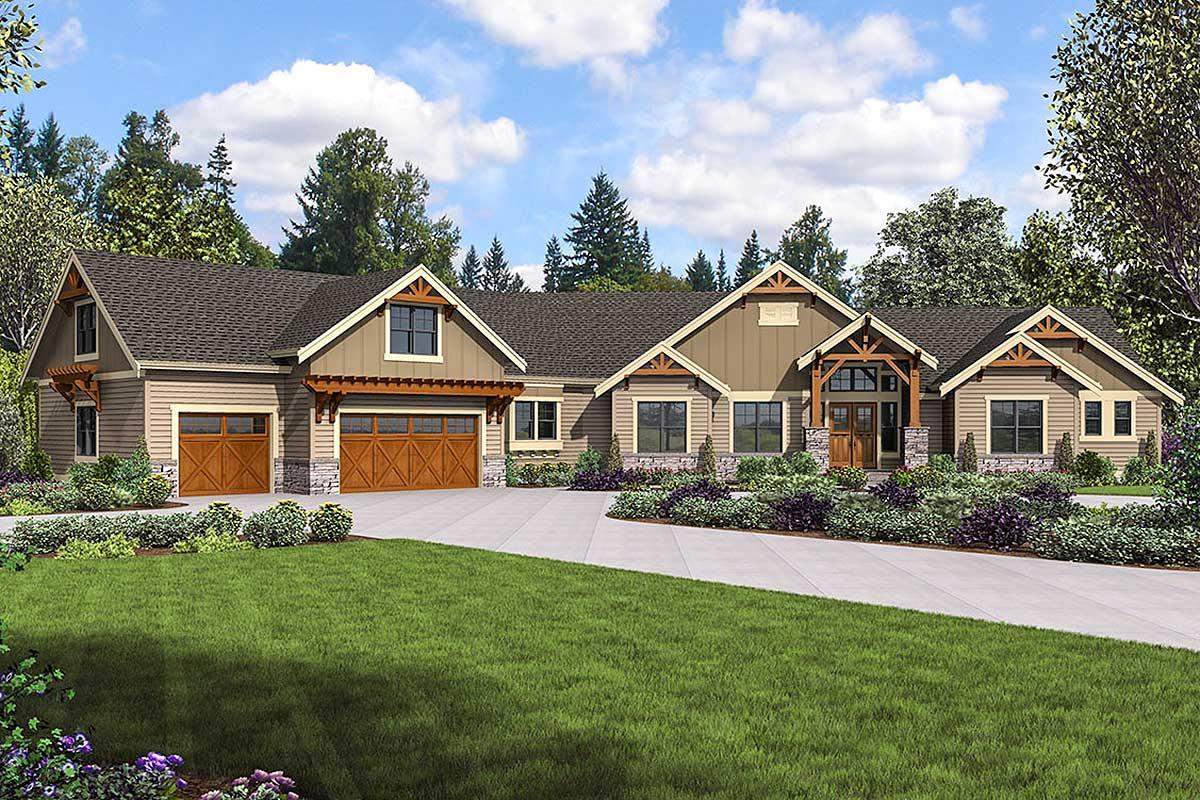 Mountain Craftsman Home Plans