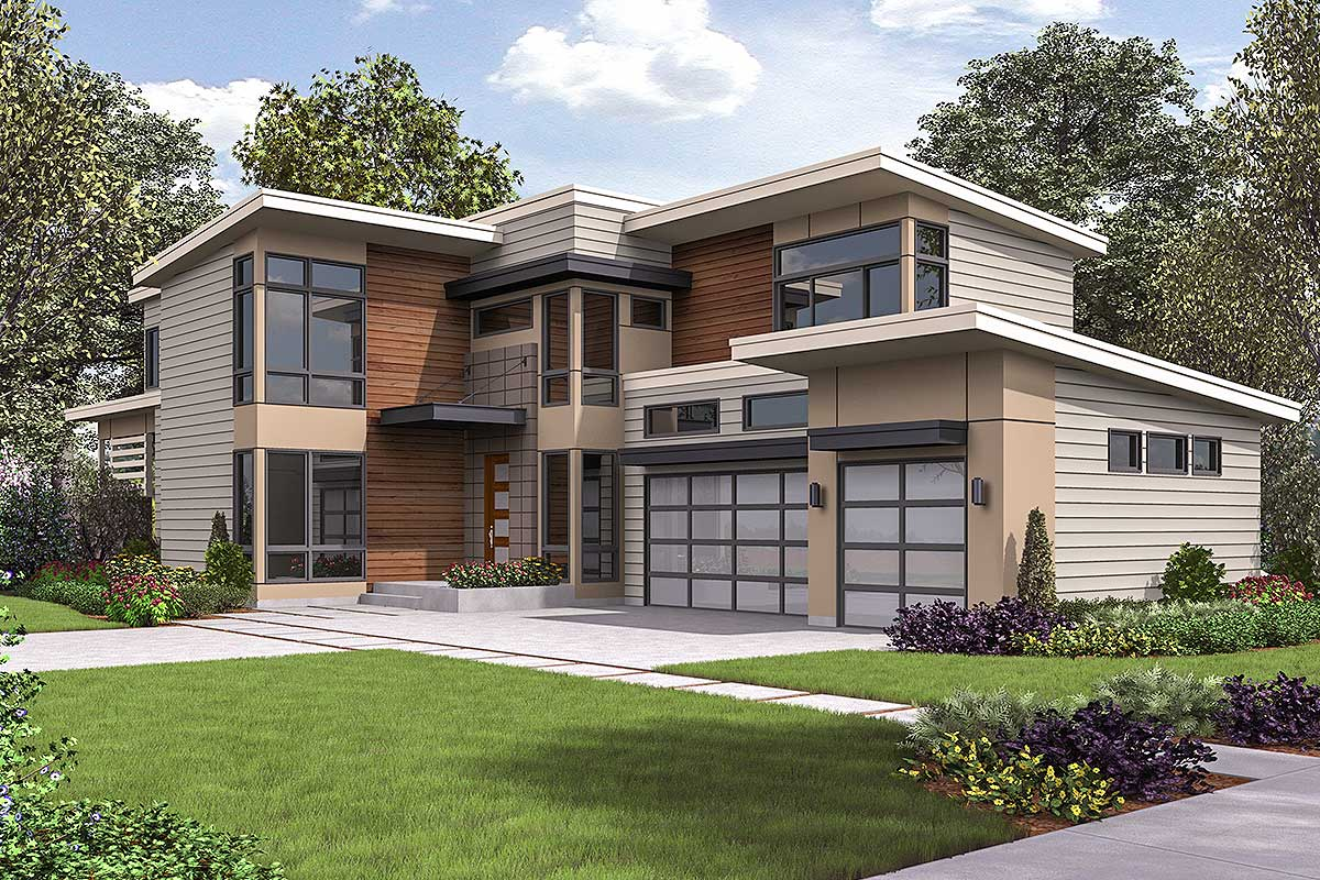 Spacious Contemporary House Plan - 23713jd Architectural