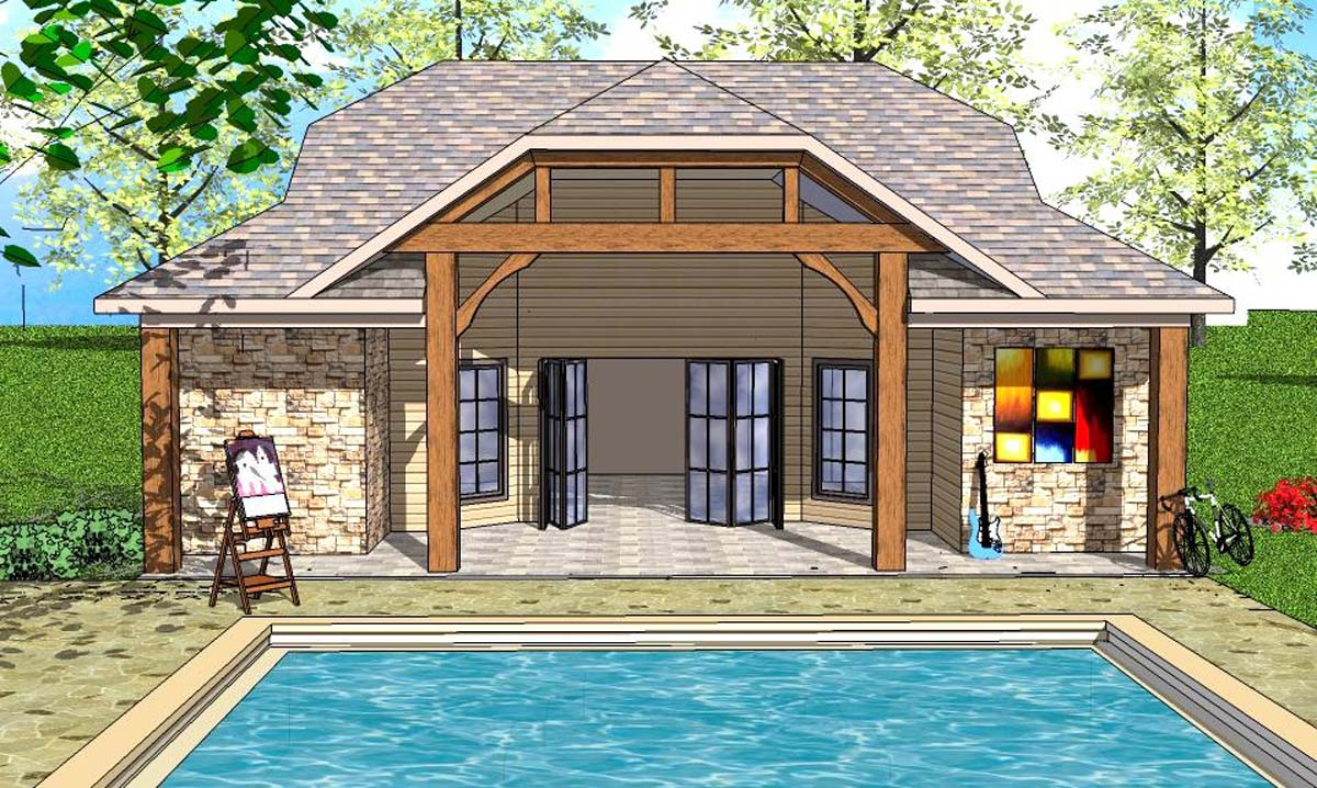 Tiny House Plan With Vaulted Interior And Covered Porch