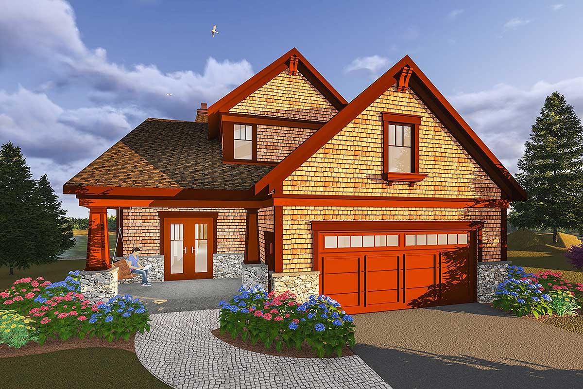 Narrow Lot Craftsman House Plans