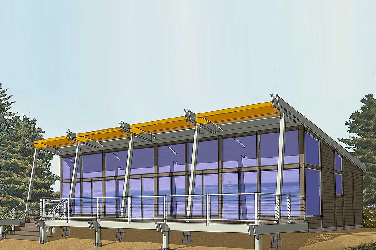 Contemporary House Plan With Panoramic Views - 737003lvl