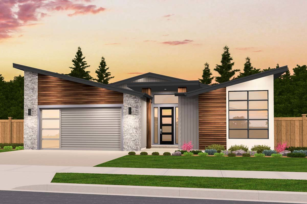 Exclusive Story Modern House Plan With Open Layout