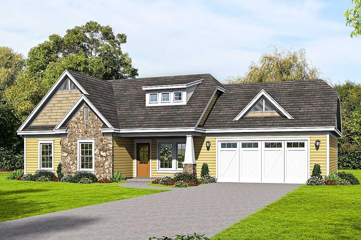 Craftsman Ranch Home Plan