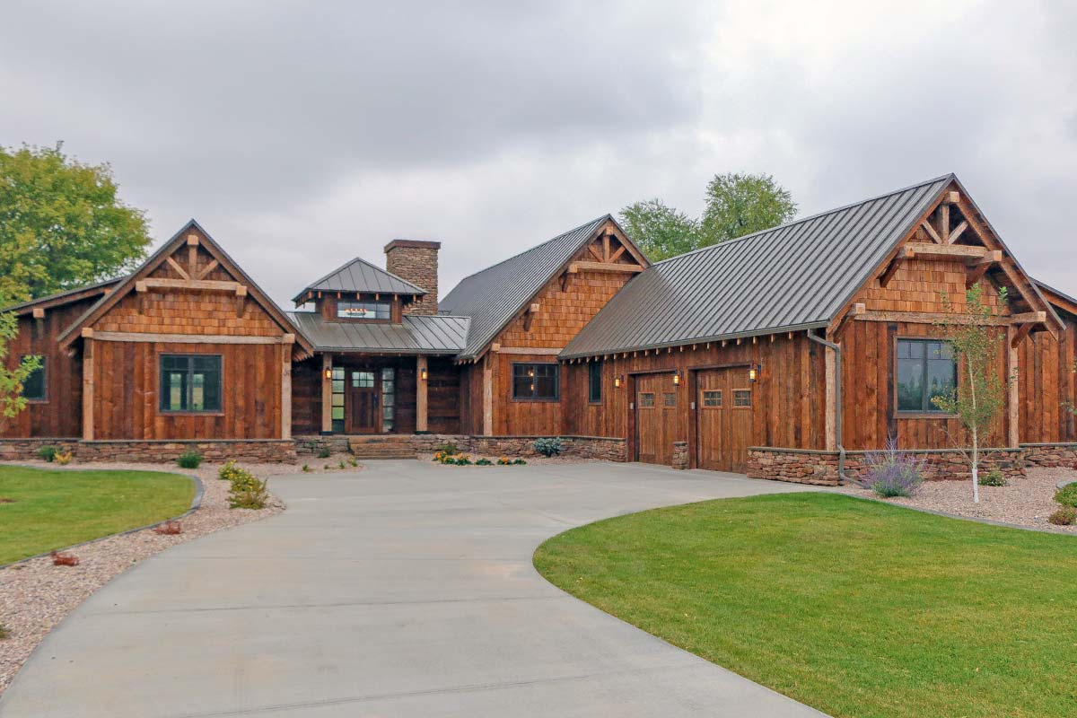Rustic Mountain Ranch House Plan - 18846ck Architectural