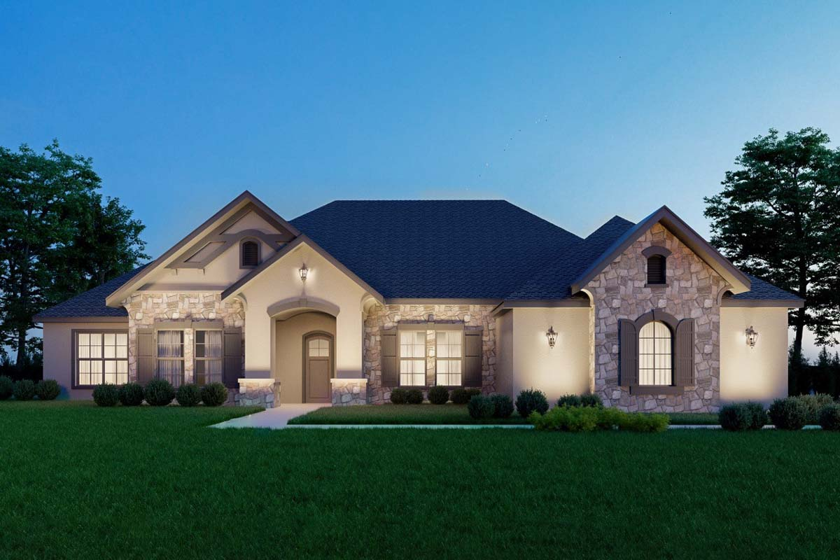 Exclusive Four Bedroom European House Plan - 430035ly