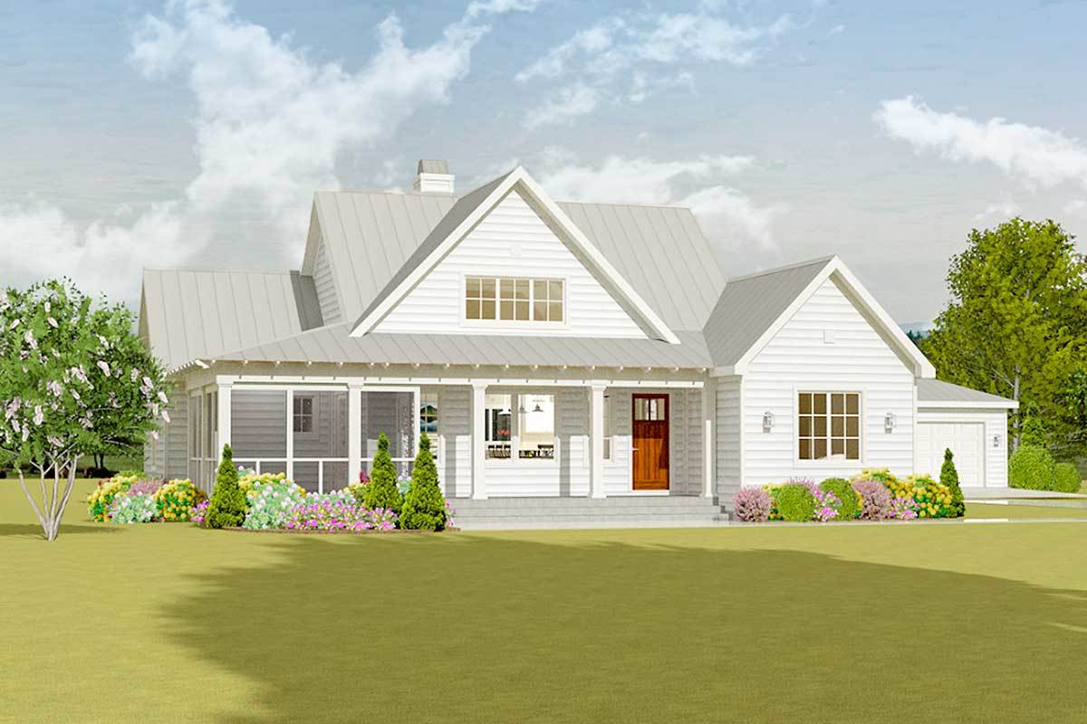 Farmhouse Plans with Detached Garage