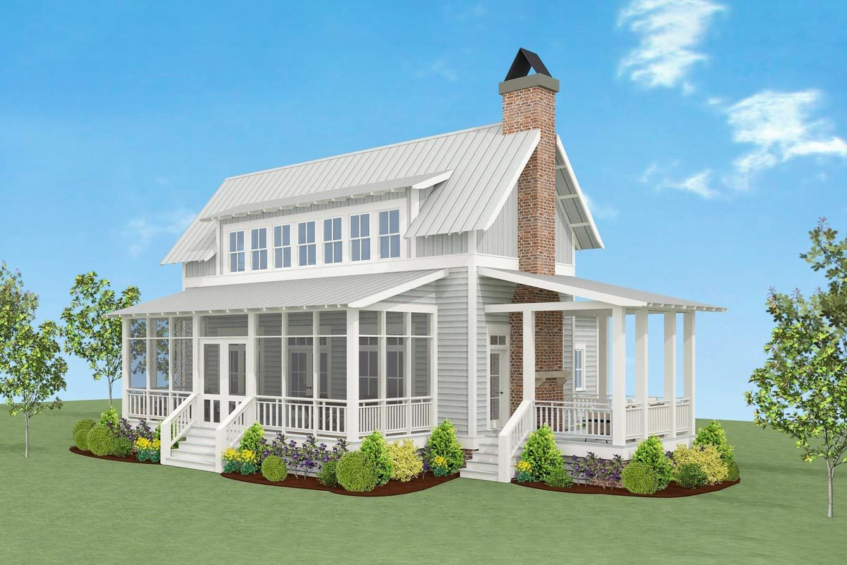 Charming Country Farmhouse Plan - 130004lls