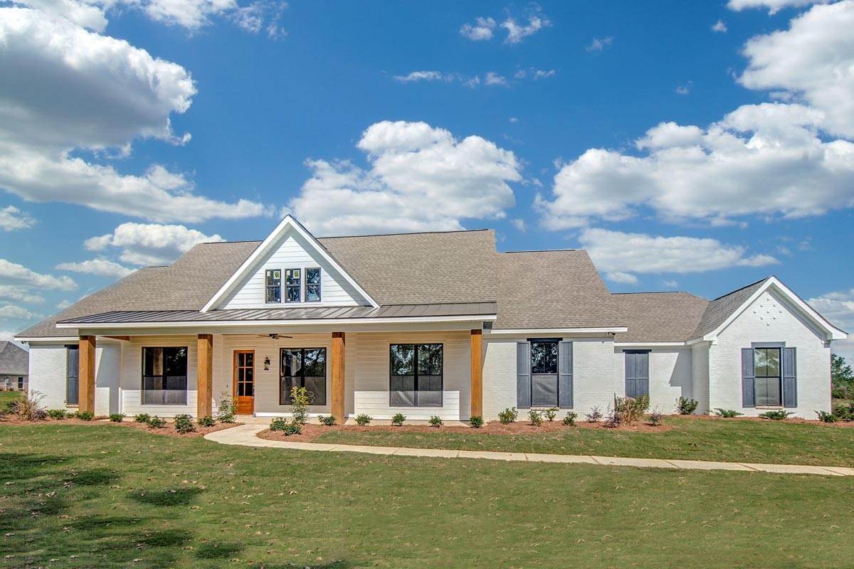 Level Country House Plan - 83903jw Architectural