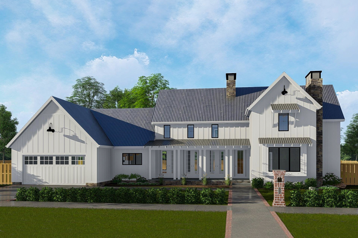 Two-Story Farmhouse House Plans