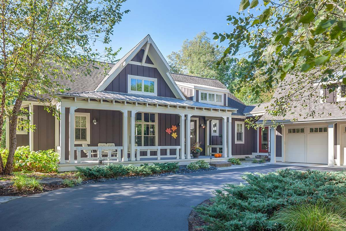 Luxury Craftsman House Plan With Finished Lower Level