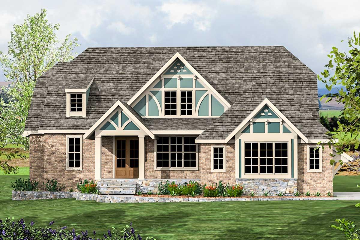 Exclusive Modern Tudor House Plan - 500039vv