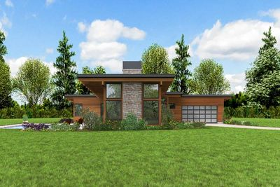 Sleek Contemporary House Plan - 69663AM | Architectural ...