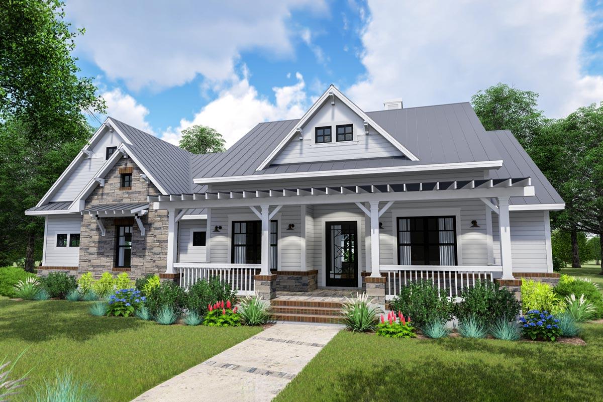 Modern Farmhouse With Side-load Garage And Optional Bonus