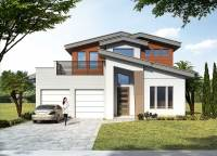 3-Bed Modern House Plan with Upstairs Outdoor Balcony ...