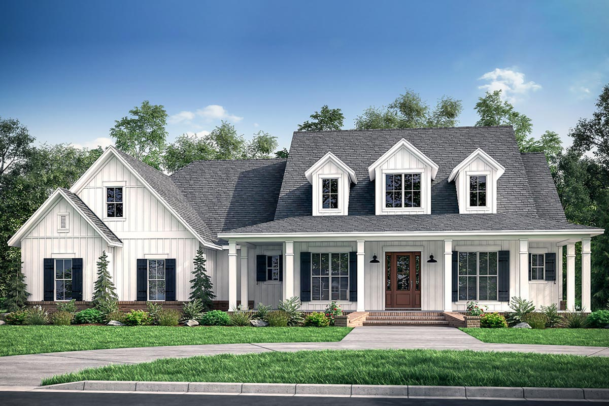 House above 3 Car Garage Plans